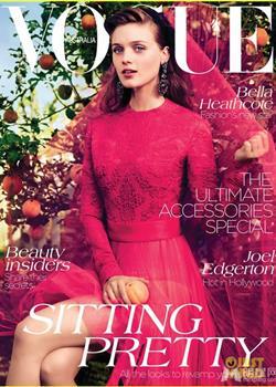 贝拉·希思科特杂志写真 大玩绚丽色彩