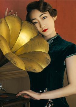 素雅新娘旗袍发型图片,文静女子最魅力