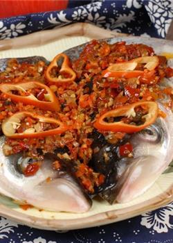 剁椒蒸鱼头_二中式菜品美食素材图片